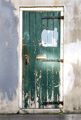 Photograph - The Green Door by Barbara Manis
