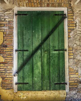 Old Door Digital Art - The Green Door by Betty LaRue