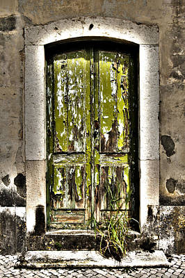 Painted Garden Gate Photograph - The Green Door by Marco Oliveira
