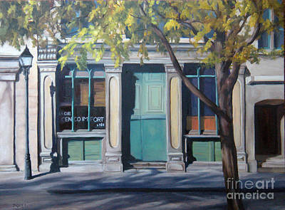 The Green Door  Old Montreal Art Print by Rita-Anne Piquet