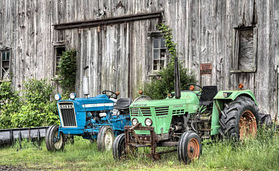 Red Tractors Photograph - The Green Duetz by JC Findley