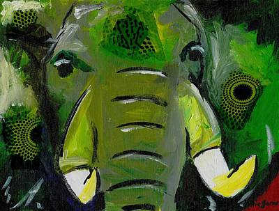 Painting - The Green Elephant In The Room by Katie Sasser