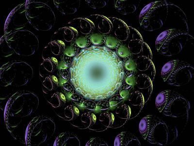 Digital Art - The Green Hole by Richard J Cassato
