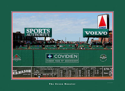 Fenway Park Photograph - The Green Monster Fenway Park by Tom Prendergast