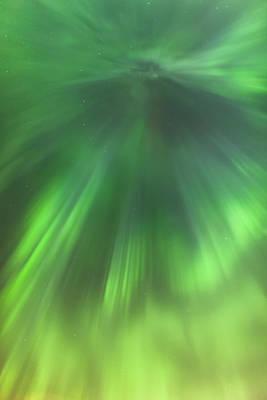 The Green Northern Lights Corona Art Print