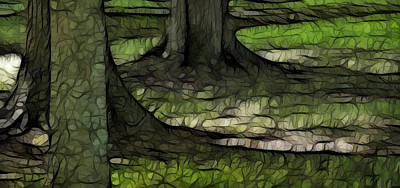The Green Of Mother Earth Art Print by Kathy Clark