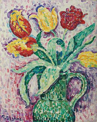 The Green Vase Art Print by Paul Signac