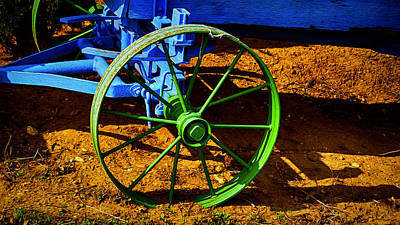 Photograph - The Green Wheel by Wayne Wood