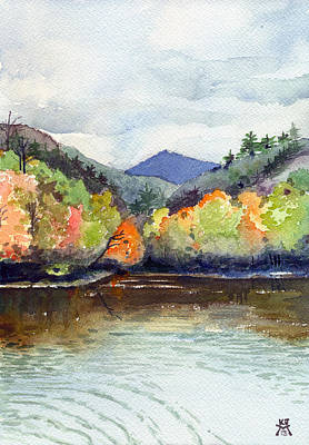 Painting - The Greenbriar River by Katherine Miller