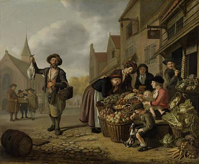 The Greengrocers Shop De Buyskool, Jan Victors Art Print
