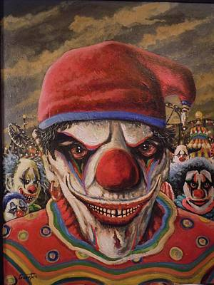 Evil Clown Painting - The Greeter by James Guentner