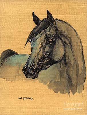 The Grey Arabian Horse 1 Art Print by Angel  Tarantella