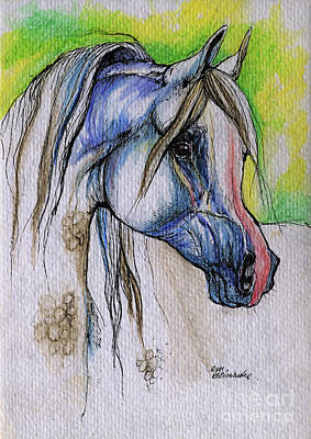 The Grey Arabian Horse 6 Original by Angel  Tarantella