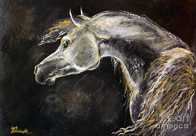 The Grey Arabian Horse 9 Original by Angel  Tarantella