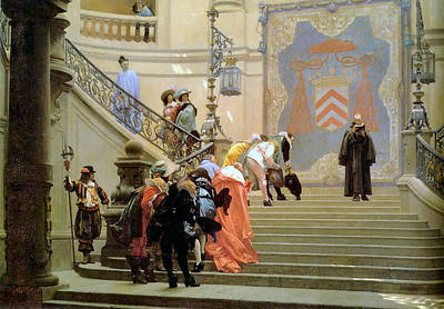 The Grey Cardinal Art Print by Jean Leon Gerome