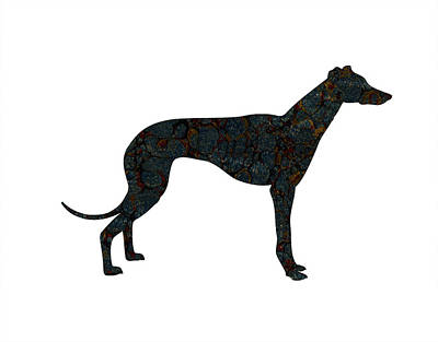 Greyhounds Painting - The Grey by Celestial Images