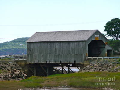 Photograph - The Grey Covered Bridge by Rachel Gagne