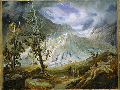 Fearnley Painting - The Grindelwaldgletscher by Thomas Fearnley