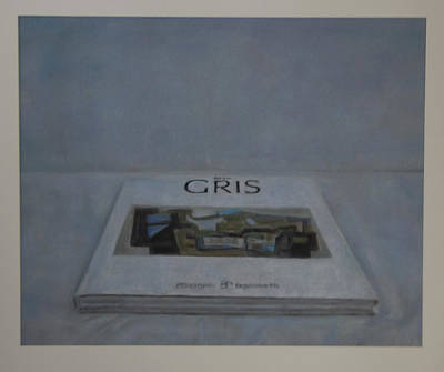 The Gris Book Art Print by Paez  Antonio
