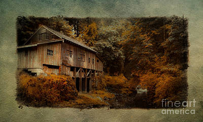 The Grist Mill  Art Print by Steve McKinzie