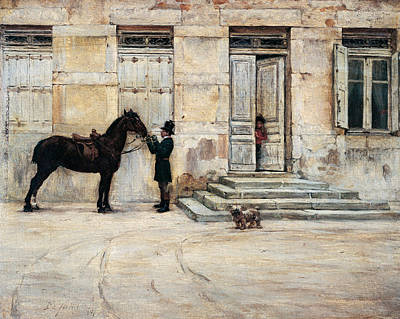 Shire Horse Painting - The Groom  by Giuseppe De Nittis
