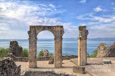 The Grotto Catullus In Sirmione At The Lake Garda Art Print by Regina Koch
