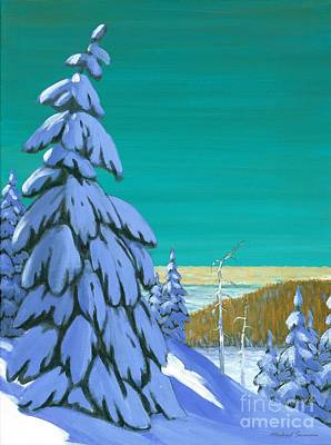 Ski Painting - Blue Mountain High by Michael Swanson