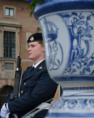 Photograph - the guard at the Royal Palace of Stockholm-2 by Evgeny Lutsko
