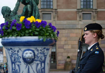 Photograph - the guard at the Royal Palace of Stockholm-3 by Evgeny Lutsko