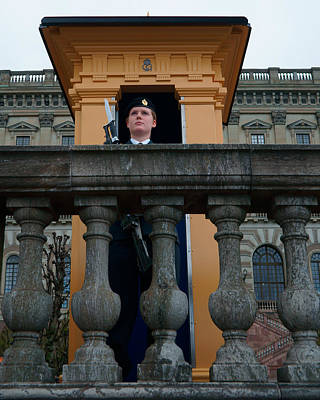 Photograph - the guard at the Royal Palace of Stockholm-1 by Evgeny Lutsko