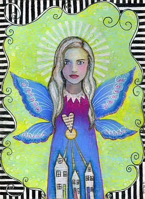 Shirley Mixed Media - 'the Guardian Angel' by Shirley Dawson