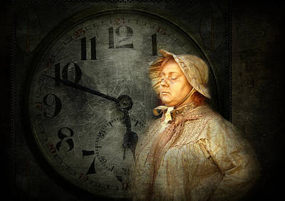 The Guardian Of Time Art Print by Heike Hultsch