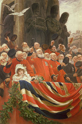 Patriotic Painting - The Guards Cheer, 1898 by Sir Hubert von Herkomer