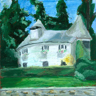 Drawing - The Guest House by Dominic White