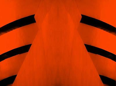 Abstract Stripe Patterns Rights Managed Images - THE GUGGENHEIM MIRROR COLLECTION in LIGHT ORANGE Royalty-Free Image by Rob Hans