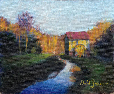 Grist Mill Painting - The Guilford County Mill by David Zimmerman