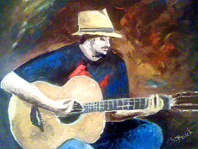 Painting - The Guitarist by Soumya Bouchachi