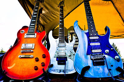 The Fabulous Kingpins Photograph - The Guitars Of Jimmy Dence - The Kingpins by David Patterson