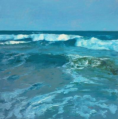 Galveston Painting - The Gulf by Randall Cogburn
