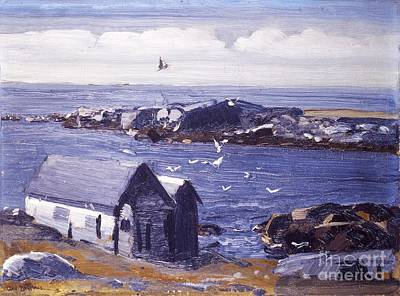 Painting - The Gulls - Monhegan  by Roberto Prusso