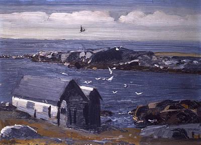 Monhegan Painting - The Gulls Of Monhegan by Mountain Dreams