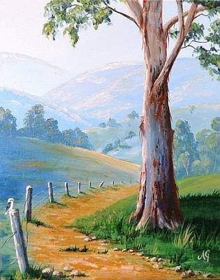Painting - The Gum Tree by Anne Gardner
