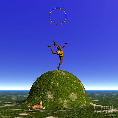 Gymnast Digital Art - The Gymnast by Walter Oliver Neal