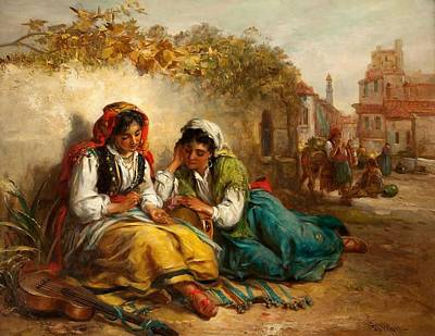 Coins Painting - The Gypsies by Thomas Kent Pelham