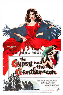 Gypsy Wagon Photograph - The Gypsy And The Gentleman, Us Poster by Everett
