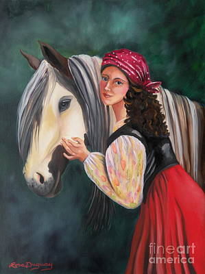 Painting - The Gypsy's Vanner Horse by Lora Duguay