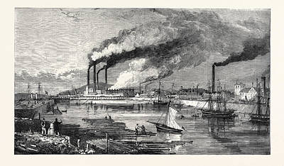 Barrow In Furness Wall Art - Drawing - The Haematite Iron And Steel Works Hindpool by English School