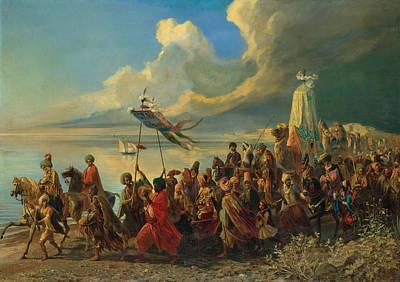Hajj Painting - The Hajj by Alfred Dehodencq