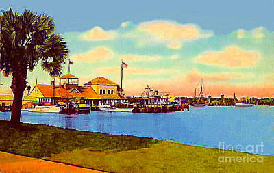 The Halifax River Yacht Club In Daytona Beach Fl In 1920 Art Print