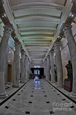 Capitol Building Photograph - The Hall Of Columns by Susan Candelario
